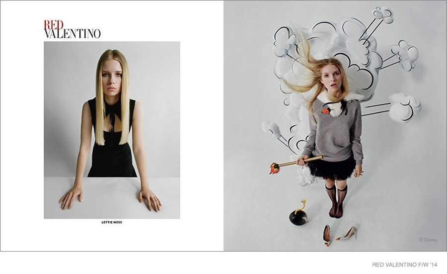 Lottie Moss for RED Valentino FW14
