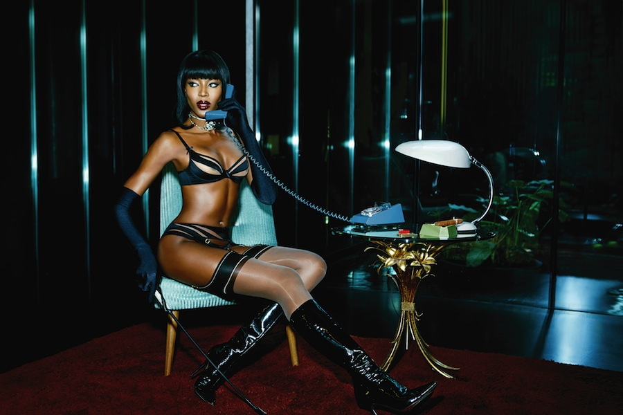 Naomi Campbell for Agent Provocateur SS15
