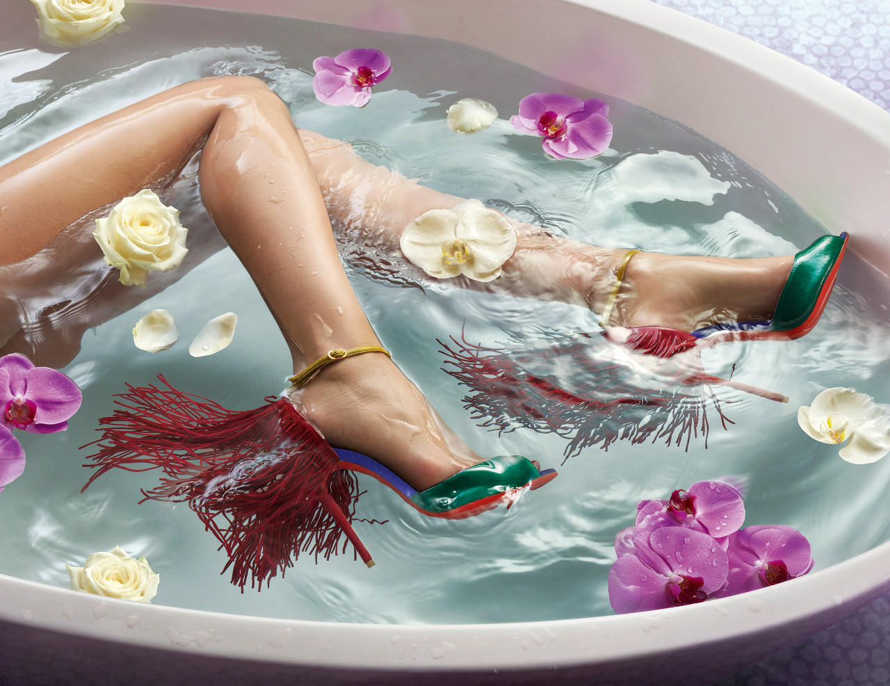 Louboutin hits the tub for SS15