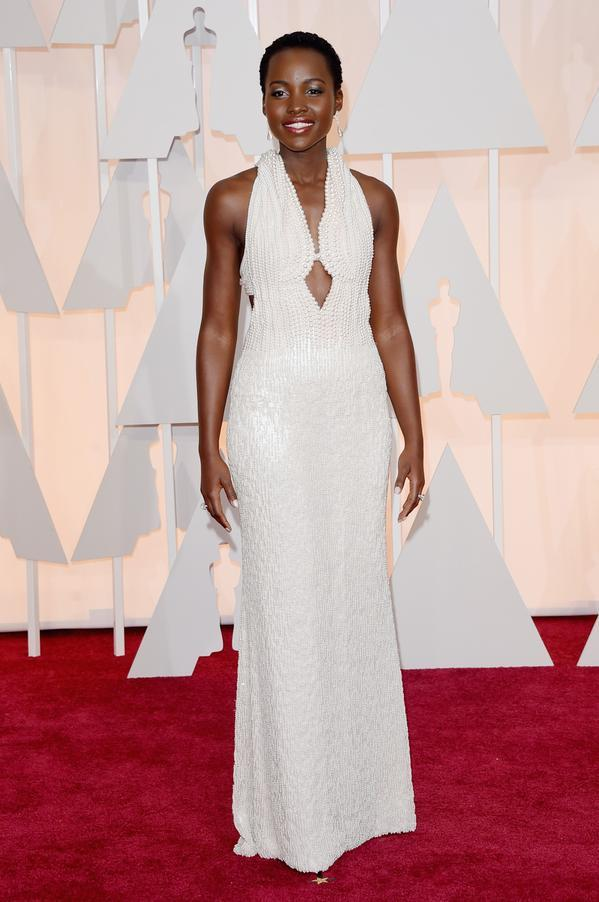 A thief stole Lupita Nyong'o's $150,000 pearl Oscars dress