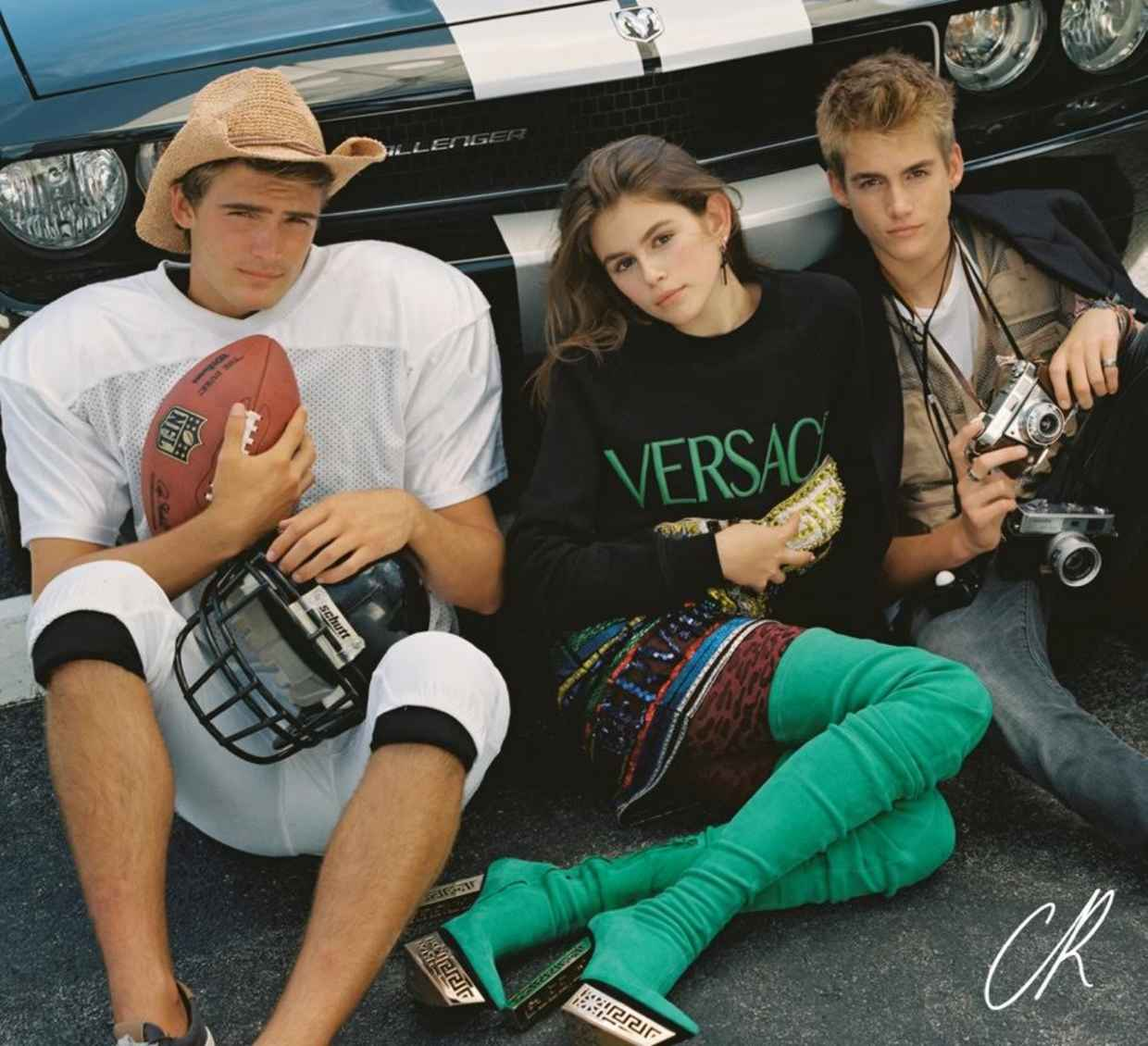 Cindy Crawford's kids' modelling is on point for CR Fashion Book