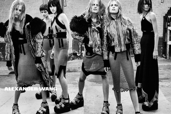 Metal rules in Alexander Wang's model-studded AW15 campaign