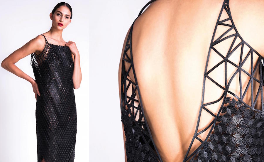 A design student 3D printed her entire graduate collection