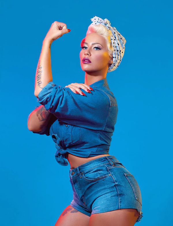 Amber Rose poses as feminist icons, proves she is amazing
