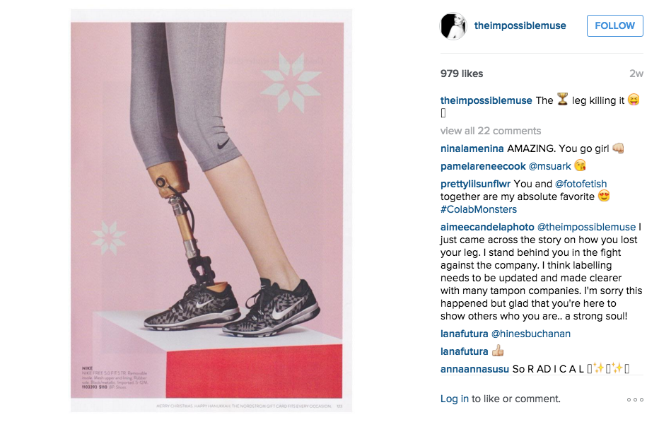 Model who lost her leg to toxic shock syndrome stars in Nordstrom's latest campaign