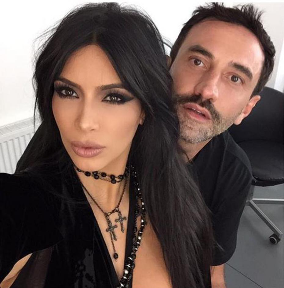 Riccardo Tisci felt the need to tell everyone he didn't invent the colour black
