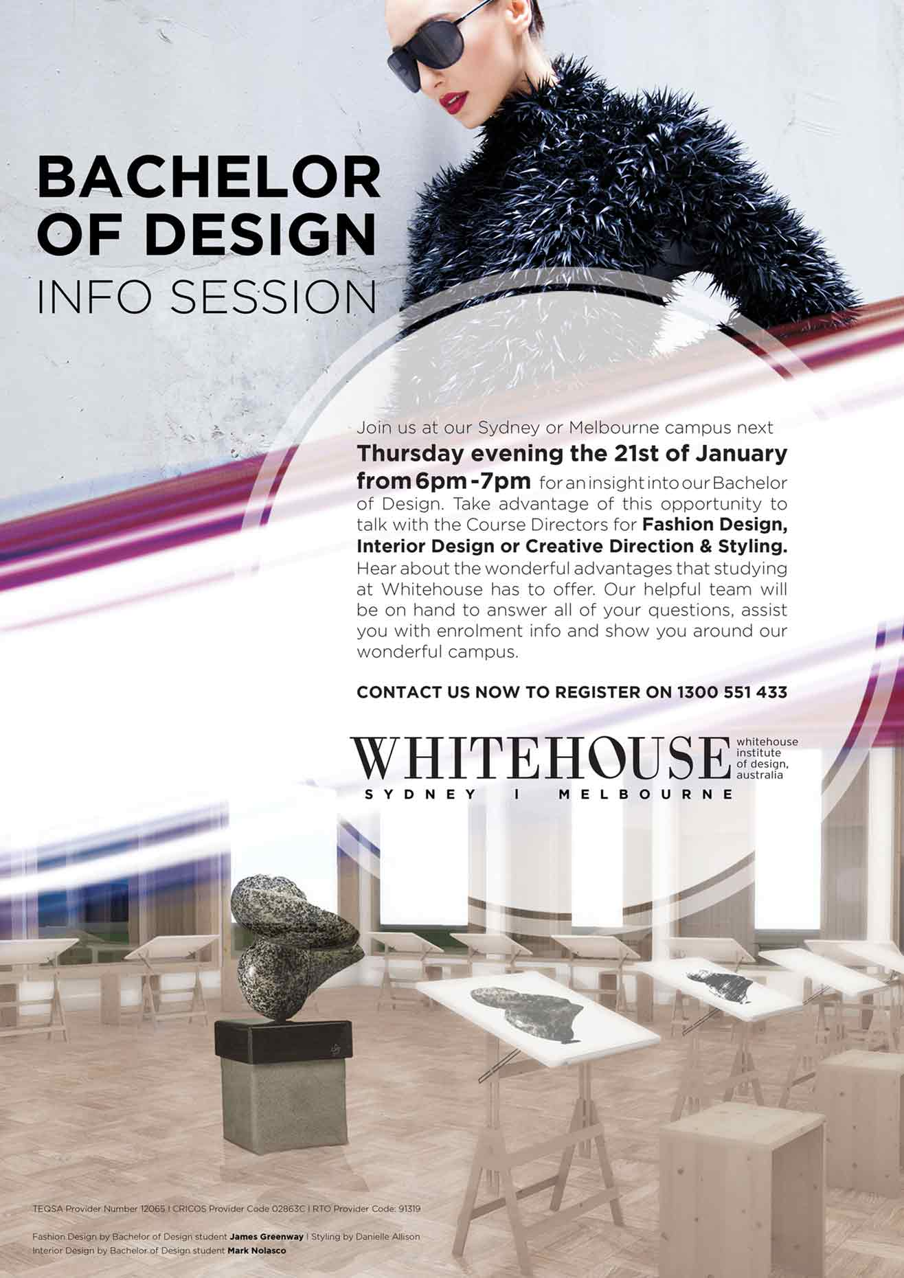 Want to be a fashion designer? Whitehouse is holding info sessions