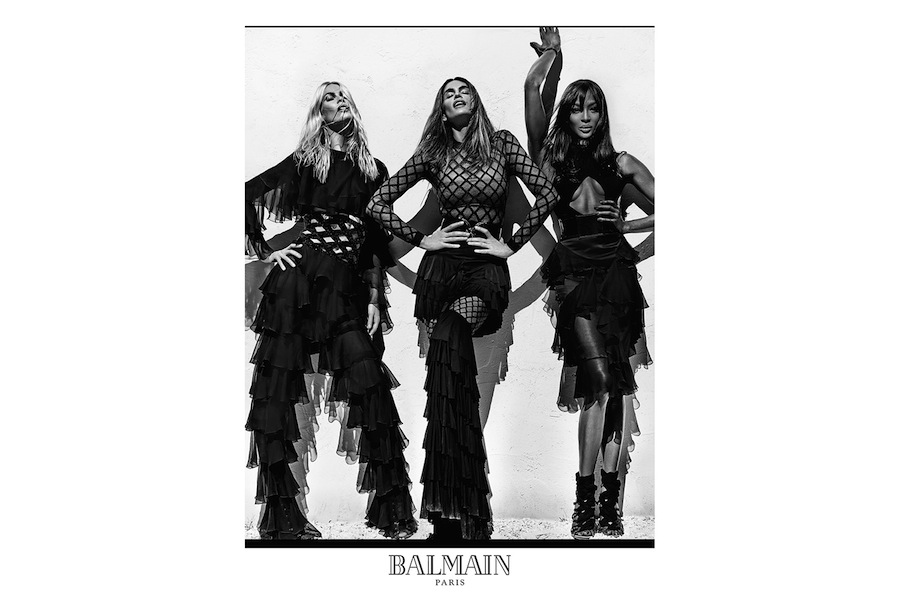 The ultimate '90s supermodel squad is fronting Balmain's new campaign