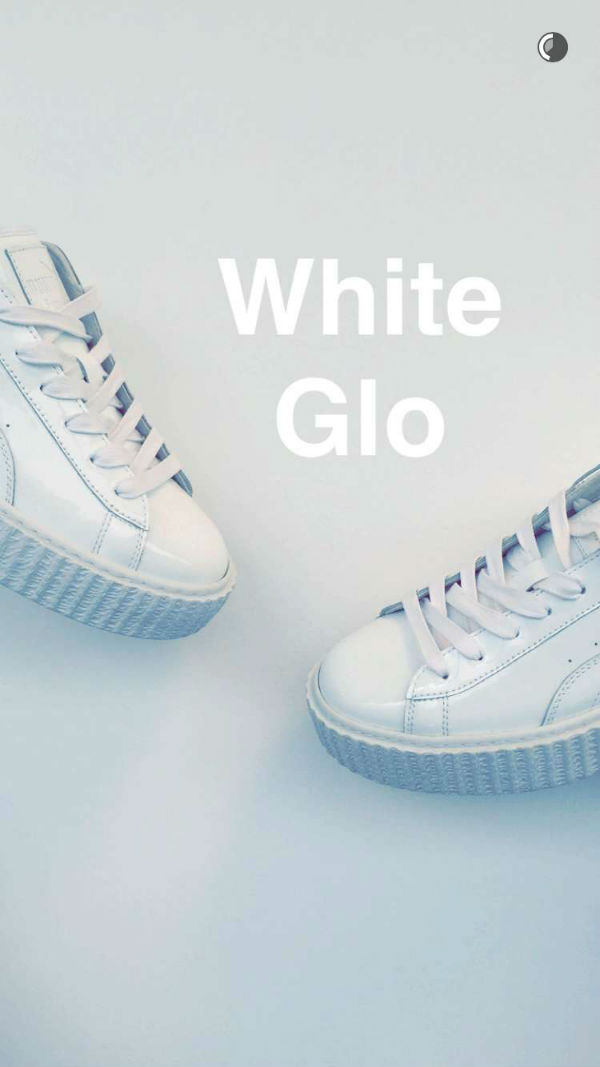 Rihanna showcased her new creepers on Snapchat and the internet has gone crazy