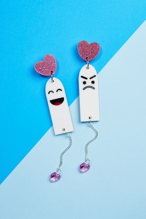 Cottons teamed up with Doodad&Fandango for bloody awesome tampon earrings