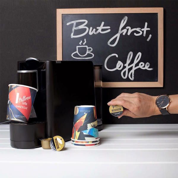 Win one of two Espressotoria coffee machines and a set of Vittoria Coffee latte cups