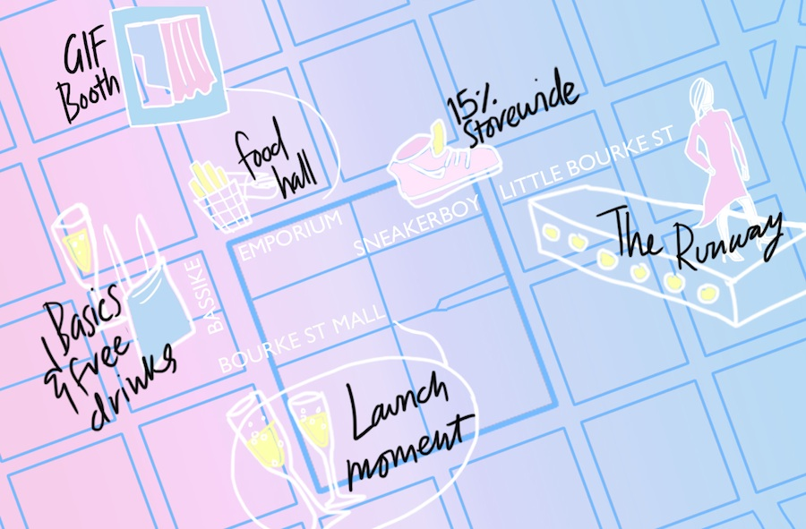 An itinerary to maximise your time at Vogue American Express Fashion's Night Out