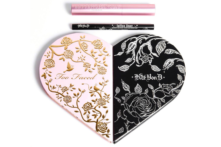 Too Faced and Kat Von D have collabed on this palette and we have no idea what's inside