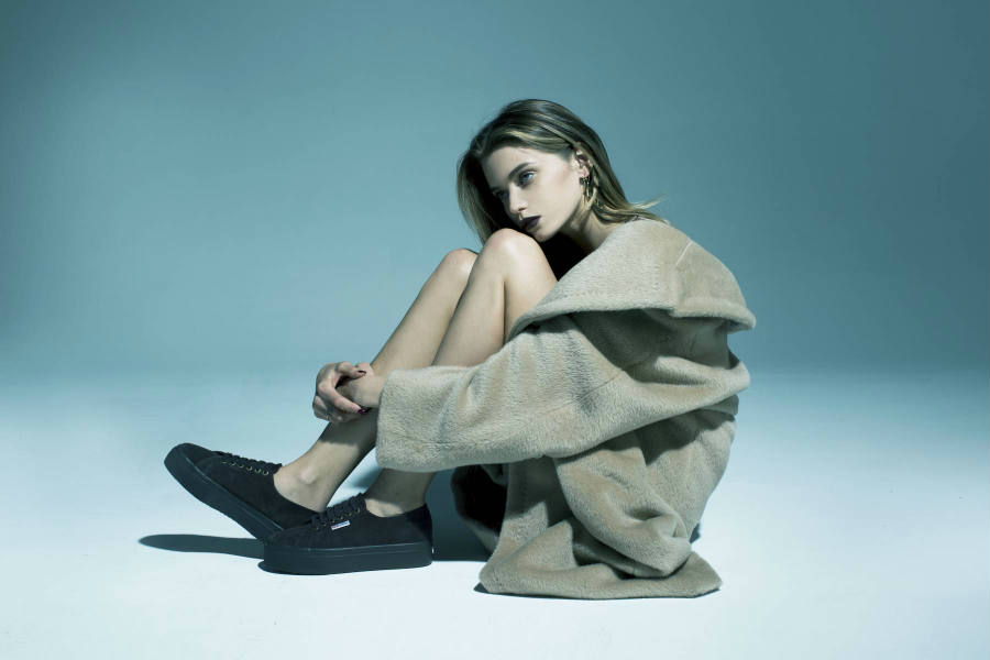 Fresh images from the Abbey Lee x Superga campaign