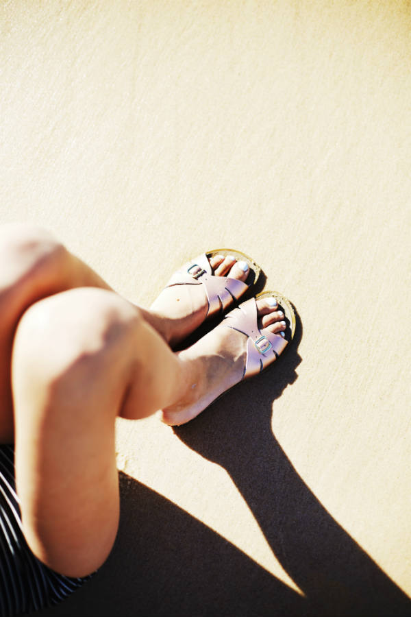 Salt Water has re-released its rose gold sandals for the salty season