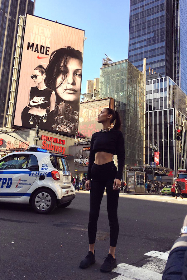 Bella Hadid fronts new Nike #NYMade campaign because the world wants more