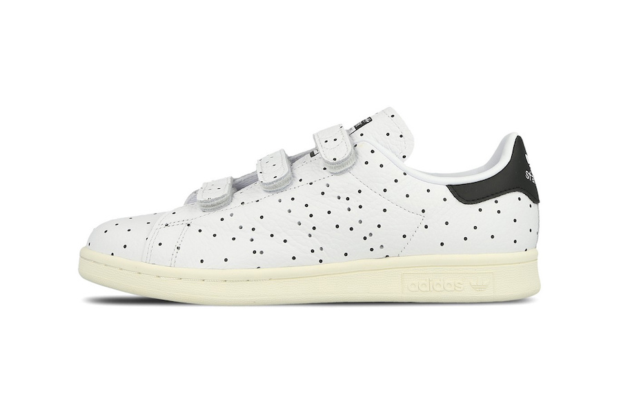 adidas is here with a polkadot velcro Stan Smith