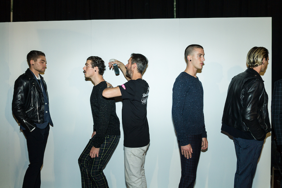 We went backstage at VAMFF's GQ Menswear Runway