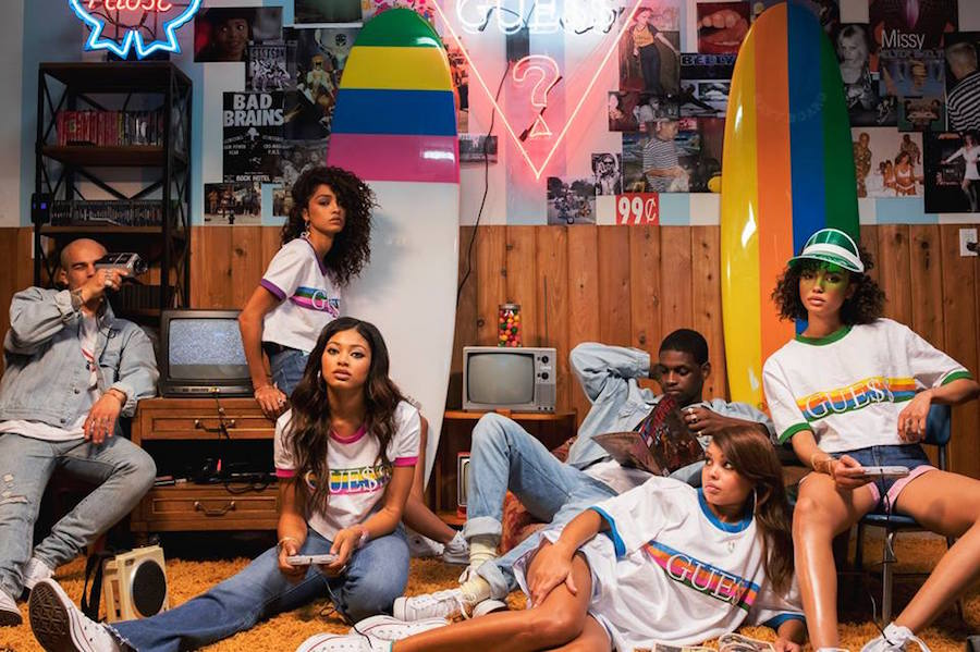 A$AP Rocky and Guess have teamed up for an ice cream-inspired collection