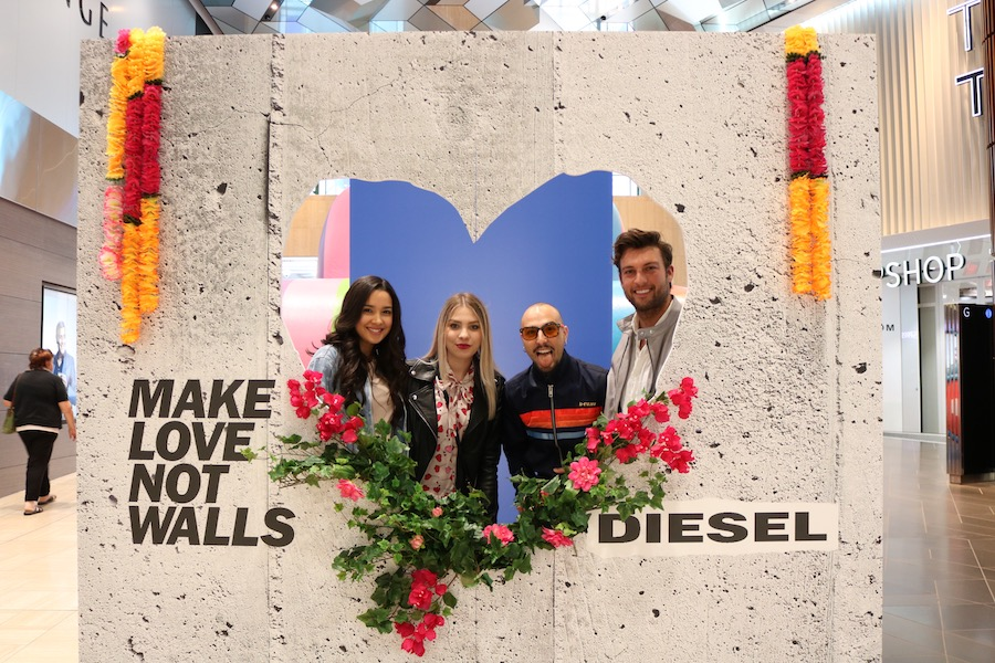 Diesel has installed an inflatable rainbow tank at Emporium Melbourne