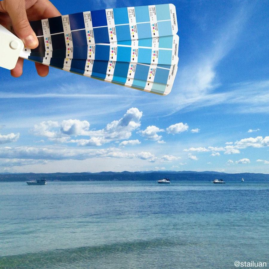 This graphic designer is matching European landscapes with Pantone colours