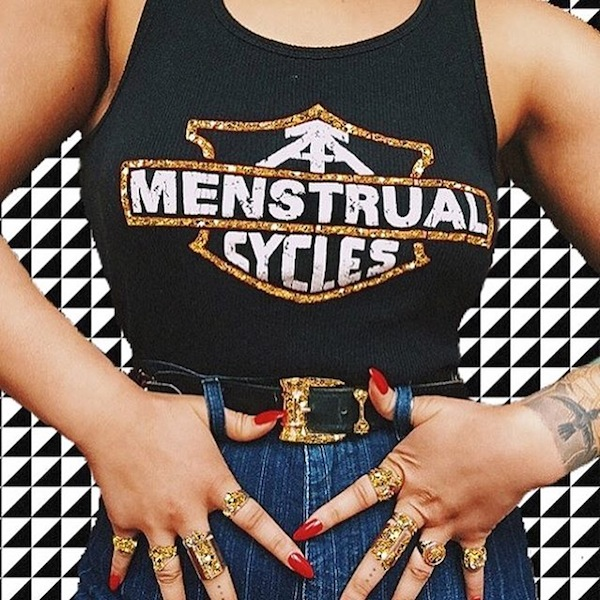 This 'Menstrual Cycles' singlet is everything we didn't know we needed and more