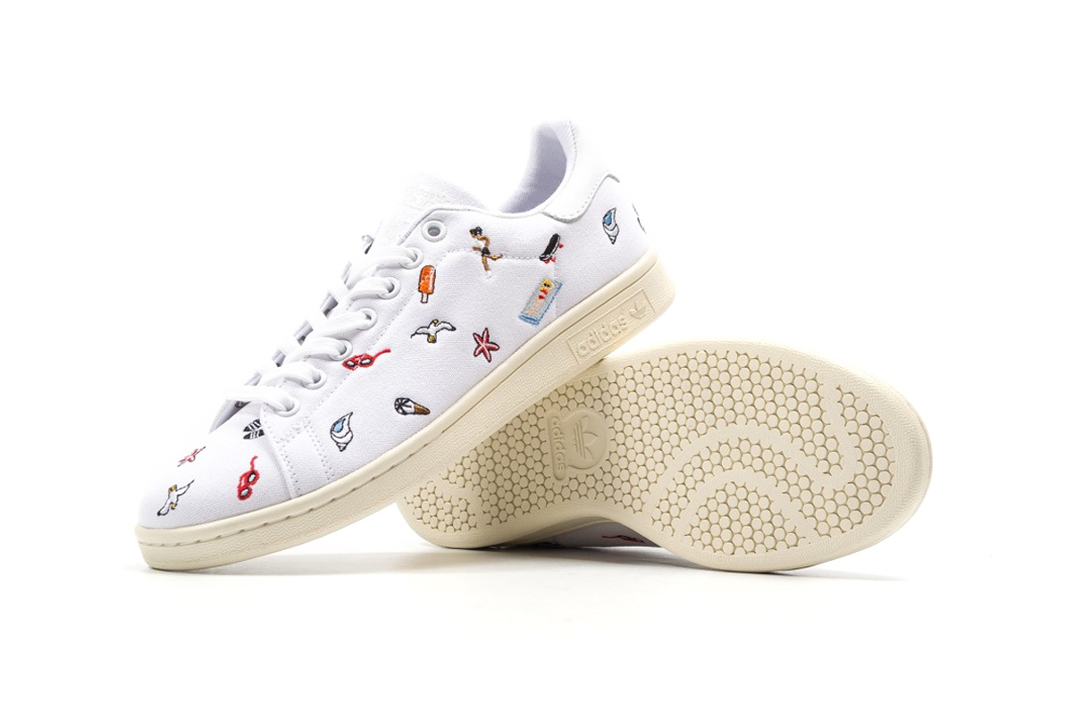 These summer embroidered Stan Smiths are the cutest