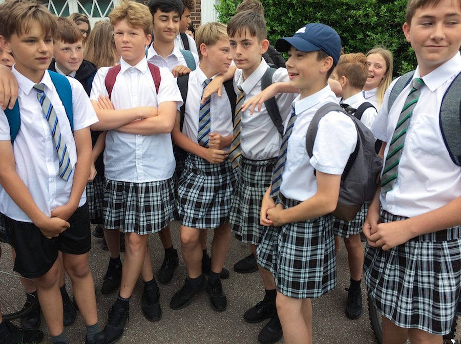 Teen boys are wearing skirts to school to protest uniform codes