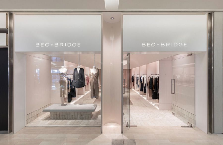 Bec & Bridge opened its first retail store and it's millennial pink