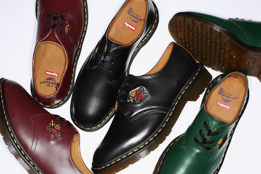 Supreme has collaborated with Dr. Martens and our hearts can't take it