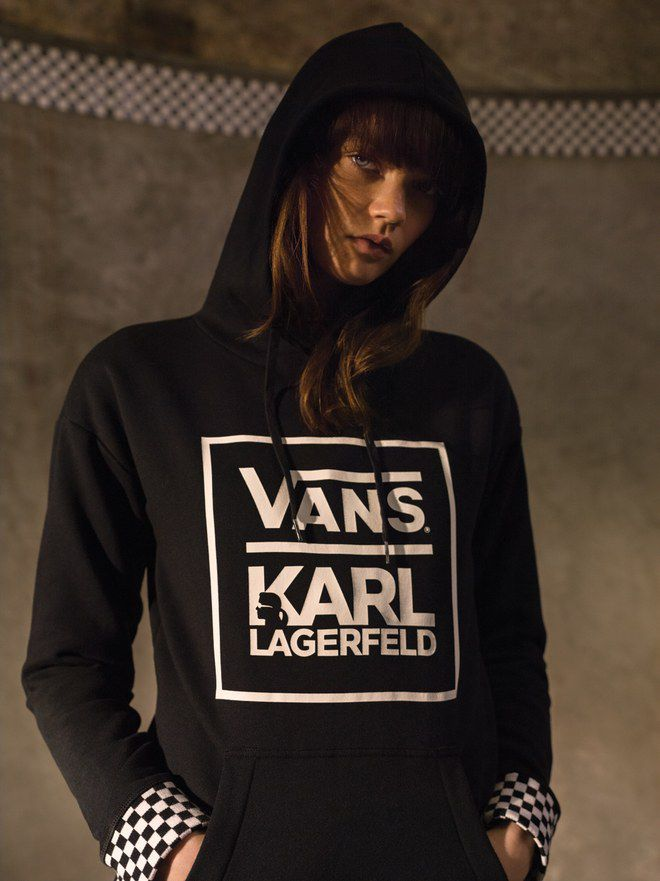 Vans just shared images of its collection with Karl Lagerfeld