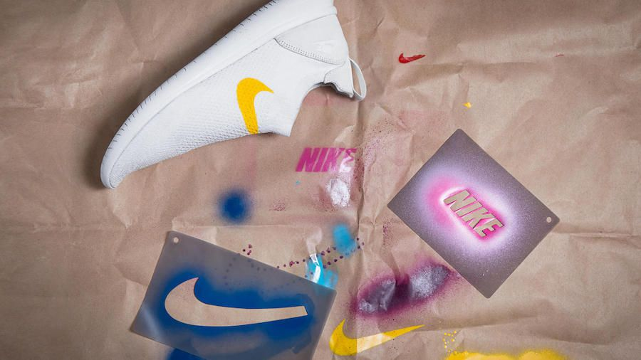 Nike's new running shoe comes with stencils for DIY customisation