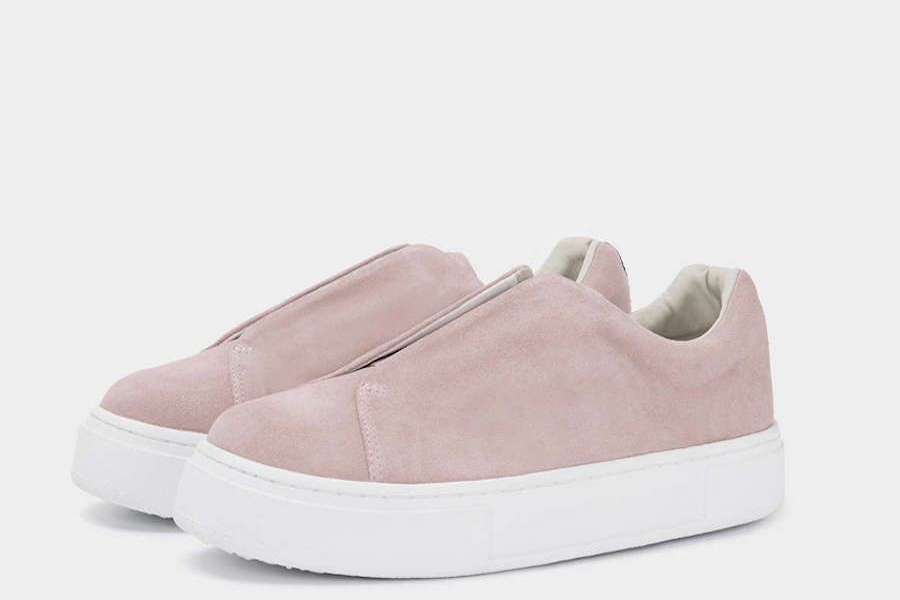 Eytys has released its Doja sneaker in blush pink and our hearts can't take it