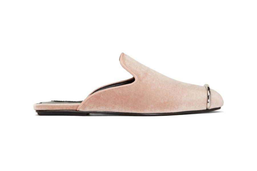 Alexander Wang has released a millennial pink velvet slipper