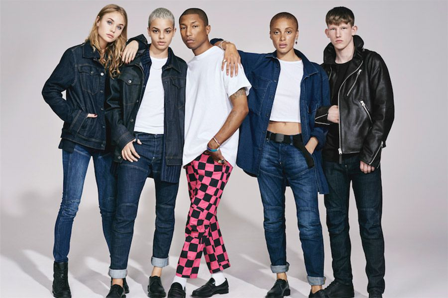 Pharrell Williams and more front G-Star Raw's latest campaign