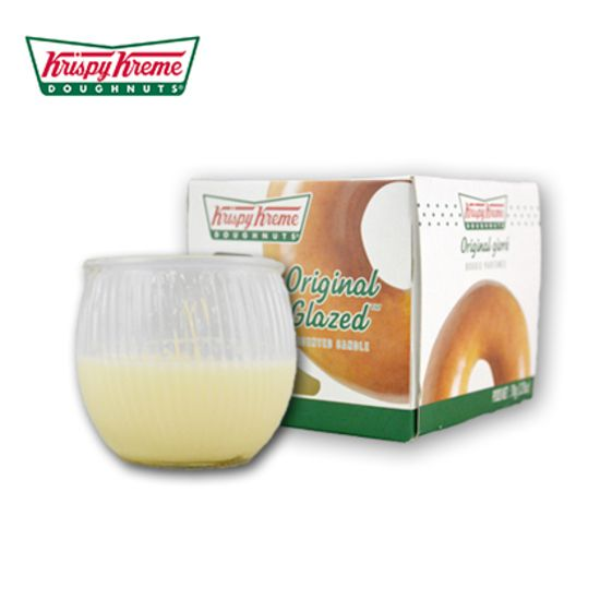 Krispy Kreme has released a line of doughnut-scented candles