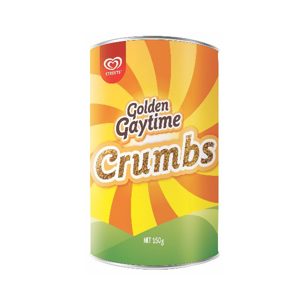 You can now buy a tin of Golden Gaytime Crumbs at your local supermarket