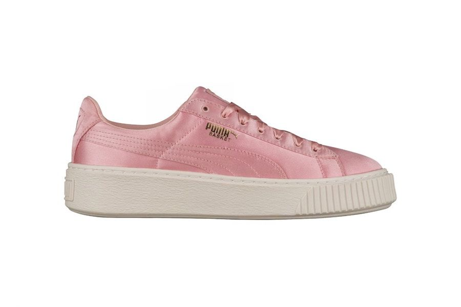 PUMA gifts the world a satin pink Basket Platform