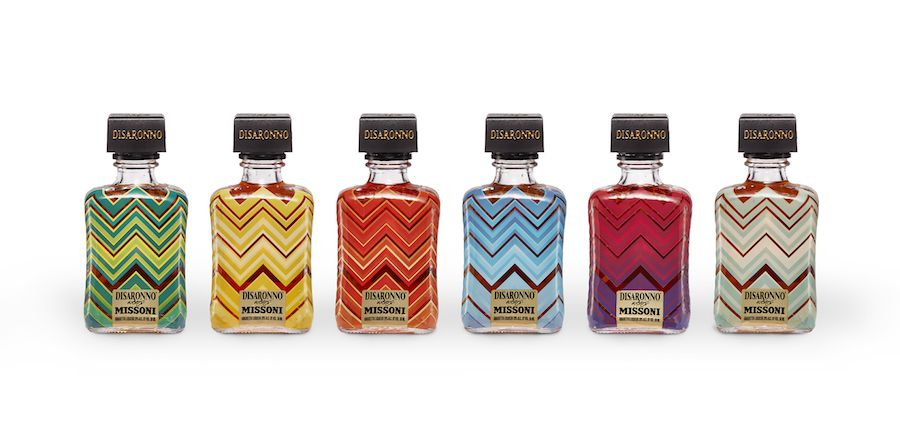 Disaronno has been decked out in Missoni for a limited edition collaboration