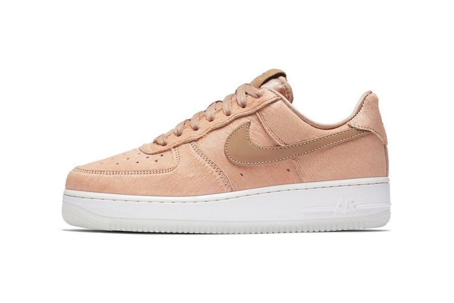 Nike updates the Air Force 1 with pink pony hair