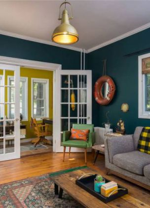 There's a quirky Wes Anderson-themed house available to rent on Airbnb