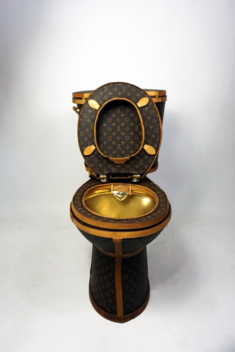 You can now do your business on a $100k Louis Vuitton toilet