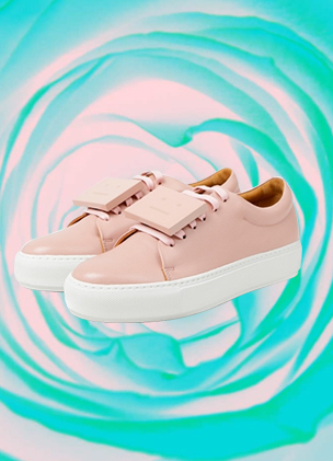 Acne Studios has delivered its Adriana sneaker in rose