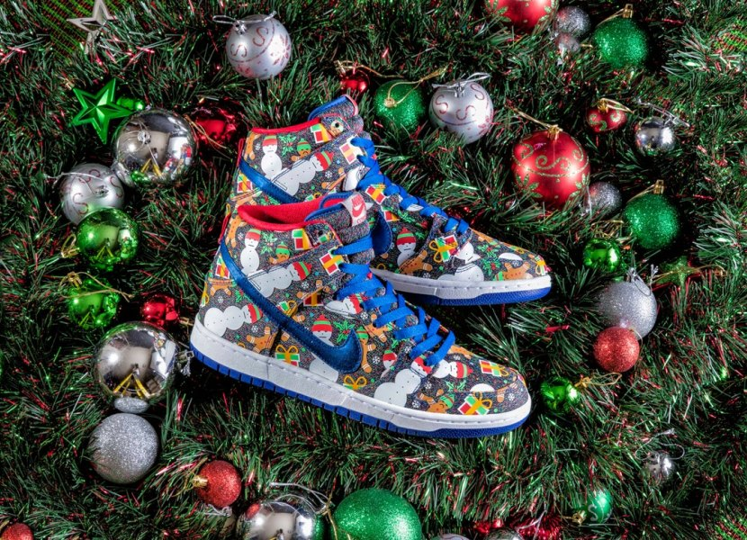 Concepts and Nike SB have released an 'Ugly Sweater' Christmas sneaker