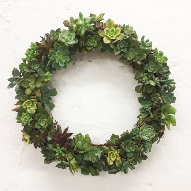You can now get succulent Christmas wreaths delivered Australia-wide