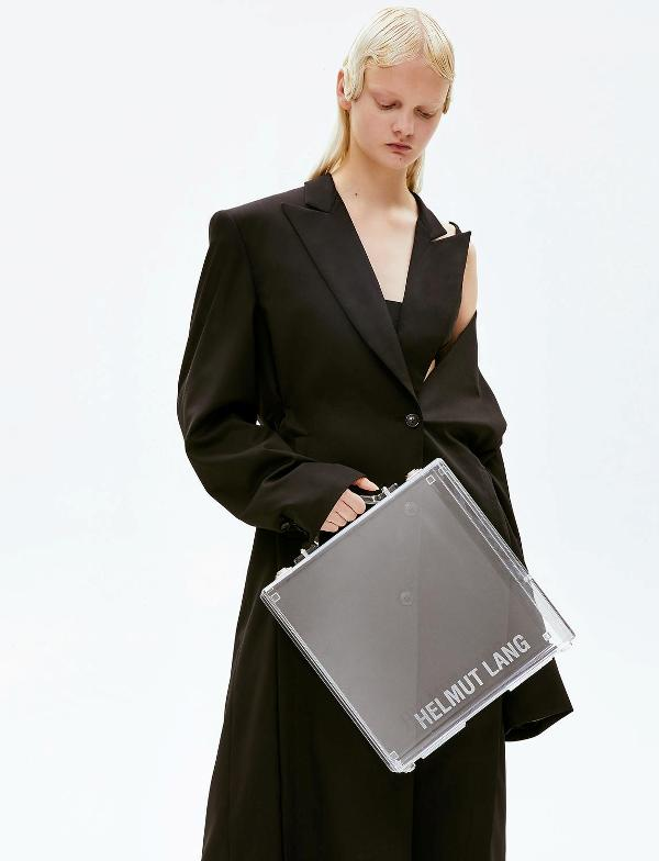 Helmut Lang premieres a clear briefcase for people with nothing to hide