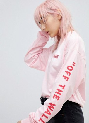 Vans and ASOS team up for a millennial pink crewneck