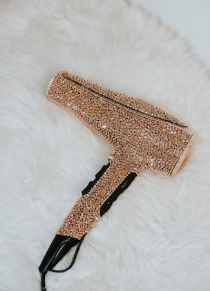 For $10K, you could be the owner of a crystal-covered rose gold hairdryer