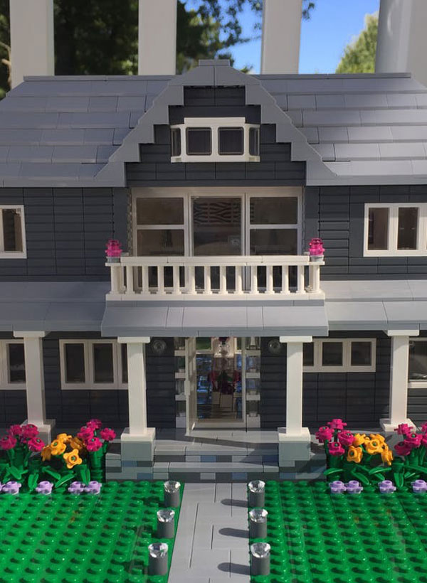This artist will recreate your house in Lego form