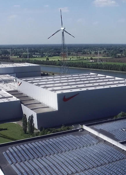 Nike is headed toward 100% renewable energy in North America